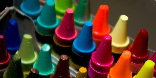 box of crayons