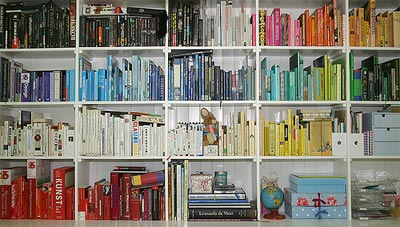 organized bookcase