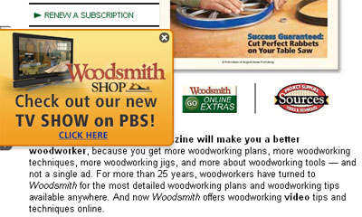 Woodsmith magazine's website.