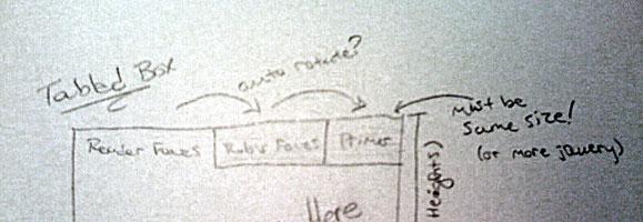 drawing of a tabbed box