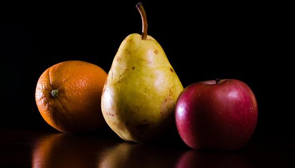 Orange, Pear, Apple by Joe Lencioni. Used under a Creative Commons license.