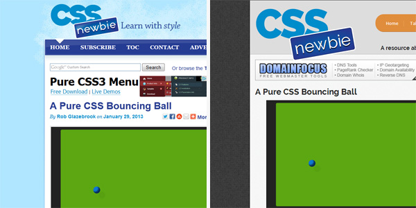 CSS Newbie design - before and after