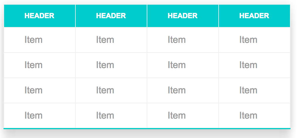 Css snippets how to style a table for Table using html